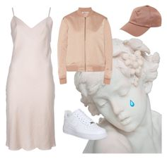 """""""soft as silk, hard as nails"""" by aberrant-ish ❤ liked on Polyvore featuring T By Alexander Wang, Acne Studios, NIKE, Ann Demeulemeester, silk and whitesneakers"""