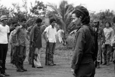 Comrade Nora Astorga of the Frente Sandinista circa 1978, pictured here training new recruits and not taking shit from anybody.
