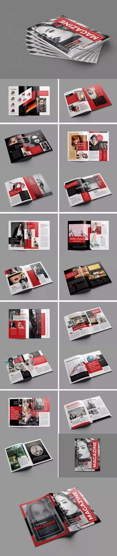 Multipurpose Magazine Template InDesign INDD - US Letter Size 36 Pages