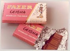 Geisha-suklaa vuodesta 1962 Geisha chocolate by Fazer since 1962  also supporting the pink ribbon campagne