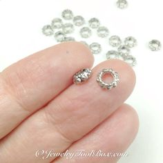 Silver Spacer Beads, 25 to 100 Beads, 6mm Diameter, 3mm Hole, Antique Silver Finish, Lead Free, Nickel Free, #1520