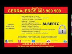 Cerrajeros Alberic 603 909 909 económicos