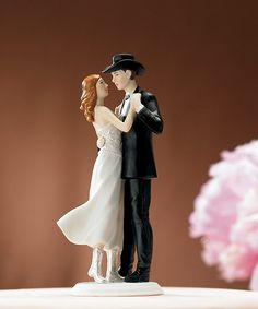 """A Sweet Western Embrace"" Cake Topper: $27.75 #wedding"
