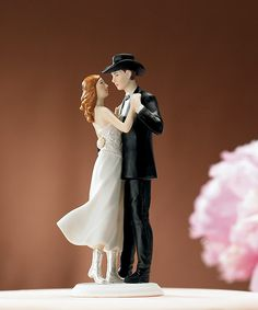 """A Sweet Western Embrace"" Cake Topper: $27.75 #wedding"