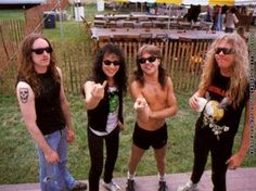 Metallica 1983 Cliff Burton Kirk Hammett Lars Ulrich James Hetfield