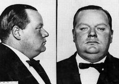 Silent screen star Roscoe 'Fatty' Arbuckle mug shot (murder charge) in 1921