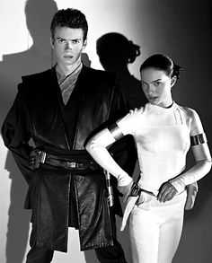 Star Wars Anakin Skywalker and Padme Amidala, love for ever until he Joined the dark side of the force