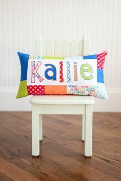 Cute name pillows