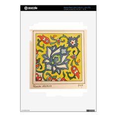 watercolor iPad 3 decal - individual customized designs custom gift ideas diy