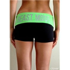 Beast Mode Booty Shorts in Clover