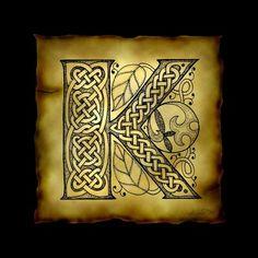 """Celtic Letter V"" by Kristen Fox, New York // An original, hand-drawn letter V… Celtic Symbols, Celtic Art, Celtic Knots, Celtic Crafts, Celtic Patterns, Celtic Designs, Islamic Patterns, Celtic Alphabet, Celtic Images"