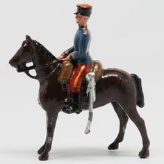 A fine set of traditional Britains lead soldiers in excellent condition in a good original box.