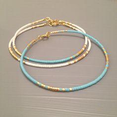 Simple jewelry Simple bracelet Everyday Bracelet Minimalist bracelet Aqua Bracelet - Women's style: Patterns of sustainability Womens Jewelry Rings, Diy Jewelry, Beaded Jewelry, Jewelry Bracelets, Jewelry Accessories, Handmade Jewelry, Women Jewelry, Jewelry Making, Jewelry Ideas