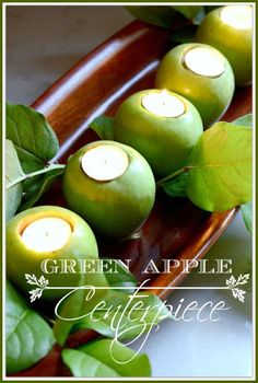 These green apple votive holders are SO cute and easy to do!  :)