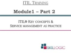 Final part of #ITIL Key concepts and service management as practice