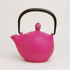What's not to love about hot pink teapots