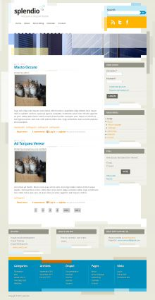 Splendio is a great looking Drupal 7 theme which is perfect for all sorts of bloggers and that includes a very unique and engaging design for your readers. If you are looking for a way to spice up your old and boring blog then Splendio is the perfect theme for your.    http://www.devsaran.com/drupal-theme/splendio