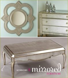 Old Hollywood Glam. #decor #furniture. Absolute love!!!