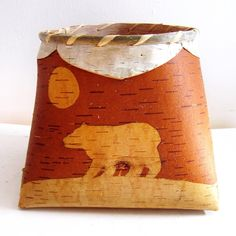 This birchbark basket is so beautiful. It features red medicinal bark, and it is…