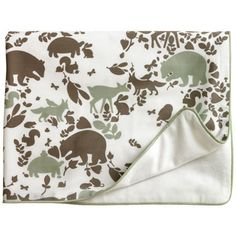 DwellStudio Kids Stroller Blanket Woodland Tumble Mocha DWSB3228557