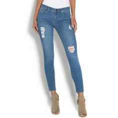 Give your usual denim look a little edge with these super distressed and ripped…