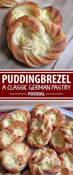 The puddingbrezel is a very special kind of pretzel. Made of buttery danish pastry with a smooth and sweet vanilla pudding filling, these little treats combine the best qualities of baked goods and desserts. Foodal shows you how to make this sweet treat – Pastry Recipes, Cooking Recipes, Cooking Pork, Cooking Tips, German Desserts, German Recipes, Norwegian Recipes, Spanish Recipes, French Recipes