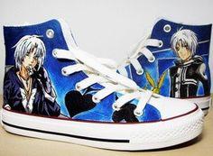 Anime Hand-painted shoes D Gray Man- La Muerte de Allen Walker canvas shoes via Etsy