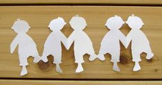 Templates for paper chain people by Craft Jr.