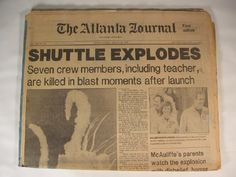 shuttle explosion 1986 - i will never forget this. the picture on the front page of our paper was in color. a picture i can pick out anywhere.