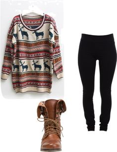 absolutelyyy --> I can just see myself curled up in front of a blazing fire with a big mug of hazelnut hot cocoa, snuggled under a fleece blanket, in a snow covered cabin in the mountains, wearing this outfit.