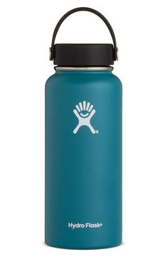 Texsport Wide Mouth Stainless Steel Beverage Bottle Blue