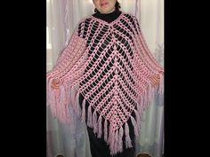 АЖУРНОЕ ПОНЧО. Вязание крючком.  Мастер-класс.  How to crochet openwork poncho. часть 1 - YouTube