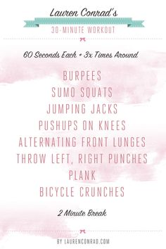 30 minute workout, no gym needed.