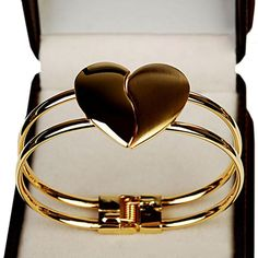 New Fashion Lady Elegant Heart Bangle Wristband Bracelet Cuff Bling Gift - $1.80. Malloom.com