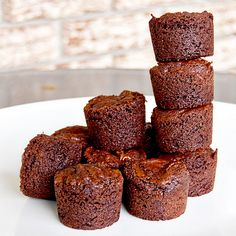 Unless I totally messed up this recipe somehow, bouchons, are really just a fancy sounding name for two bite brownies. Really good two bite . Two Bite Brownies, Brownie Bites, Brownie Bar, Yummy Treats, Delicious Desserts, Sweet Treats, Yummy Food, Cookie Desserts, Chocolate Desserts