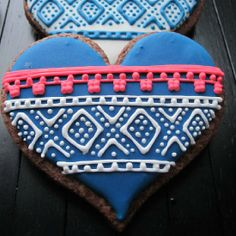 Get a taste of Norway with these Norwegian knitting pattern inspired cookies.
