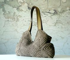 Crochet Purse Handmade granny square crochet Bag fall by NzLbags on Etsy