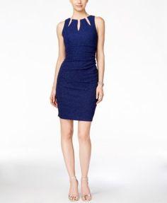 42369c1584a Betsy   Adam Embellished Keyhole Dress Women - Dresses - Macy s