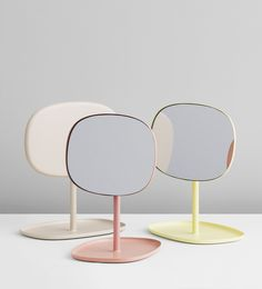 New pastel colours for the Flip mirror by Normann Copenhagen