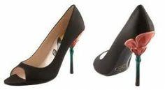 Çiçek topuklu ayakkabı