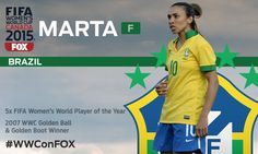 Just 22 days until #WWConFOX! Keep an eye out for Brazil's Marta. She's good, like really good.