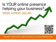 Let Techtivate Grow, Expand & Secure your business online! Please visit www.techtivate.co.uk for more info!
