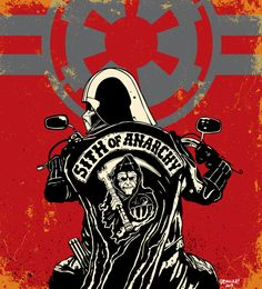 "Sith of Anarchy Darth Vader, 12""x12"" print Star Wars meets Sons of Anarchy on Etsy, $10.00"