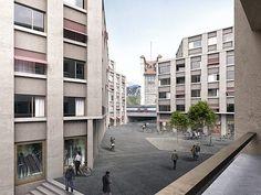 Quartier mit Mischnutzung – Post Fribourg   Boegli Kramp   Architekten BSA SIA SWB
