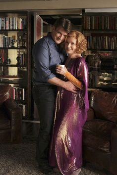 Nathan Fillion and his TV mom, Susan Sullivan, on Castle. Great mother-son combo.