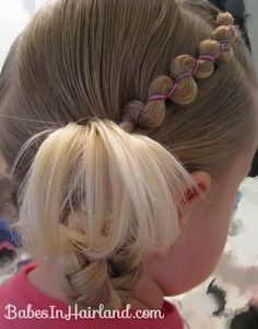 Rubber Band Wraps & Flipped Braids Cute Baby Hair Styles