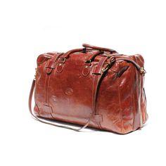 Vintage Italian Brown Leather Travel Bag by myfavoritevintage. Nice.