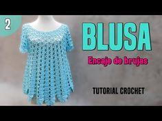 Crochet Wide Blouse Step By Step - ilove-crochet Black Crochet Dress, Crochet Cardigan, Crochet Shawl, Zig Zag Crochet, Crochet Stitches, Knit Crochet, Crochet Designs, Crochet Patterns, Crochet Mermaid