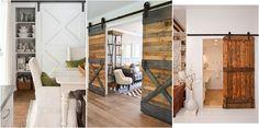Muchísimas imágenes para enamorarte y querer una puerta tipo granero en tu casa.