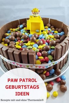 Quick and easy ideas for a Paw Patrol birthday. Children& birthday with Paw Patrol theme party. Paw Patrol Birthday, Boy Birthday, Birthday Parties, Paw Patrol Torte, Low Fat Cookies, Rubble Paw Patrol, Home Meals, Different Vegetables, Homemade Cookies